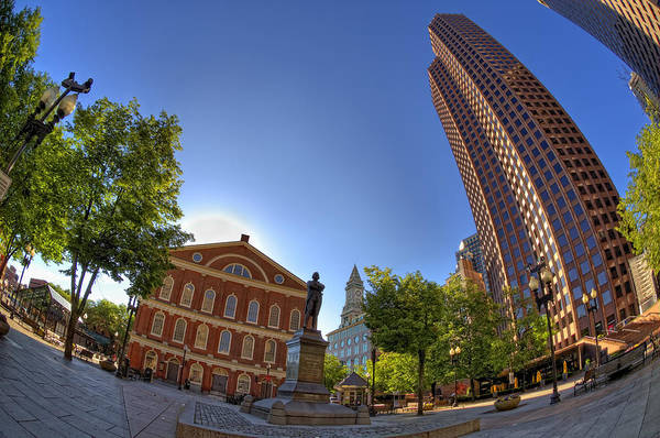 Photograph - Faneuil Hall Square by Joann Vitali