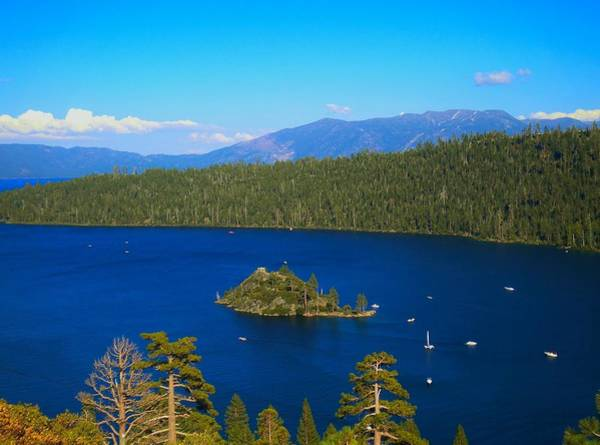 Photograph - Fannette Island Lake Tahoe California by Marilyn MacCrakin