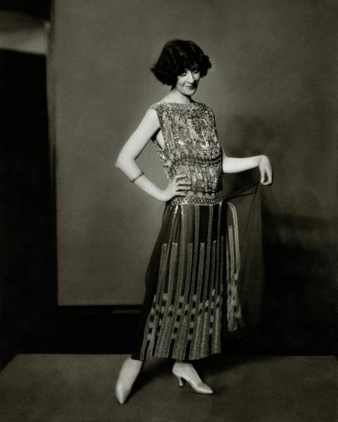 Fanny Photograph - Fanny Brice Wearing A Dress by Edward Steichen