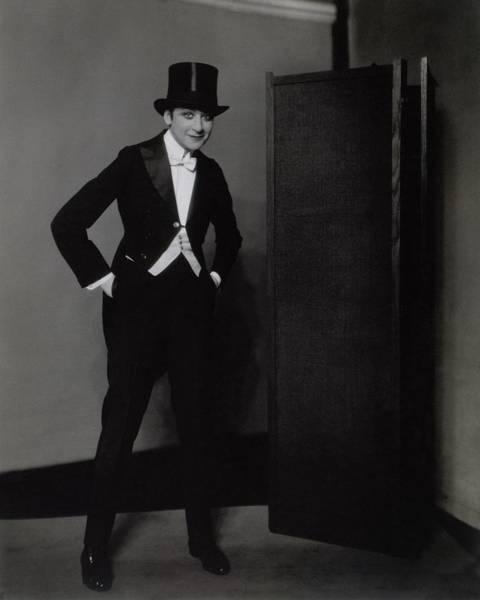 Screen Photograph - Fanny Brice Wearing A Tuxedo by Edward Steichen