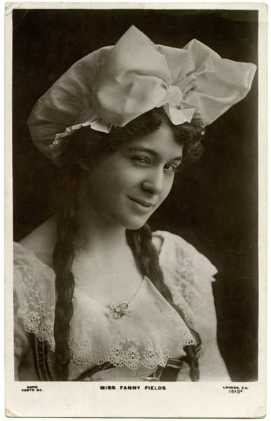 Fanny Photograph - Fanny Fields, Actress        Date Early by Mary Evans Picture Library