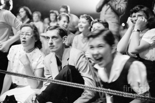 Wall Art - Photograph - Fans Reacting To Elvis Presley Performing 1956 by The Harrington Collection