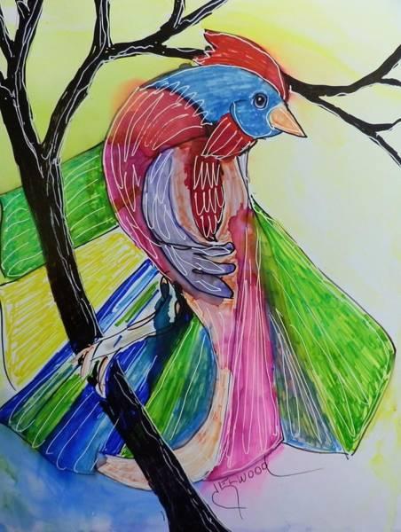 Elwood Blues Painting - Fantail by Jann Elwood