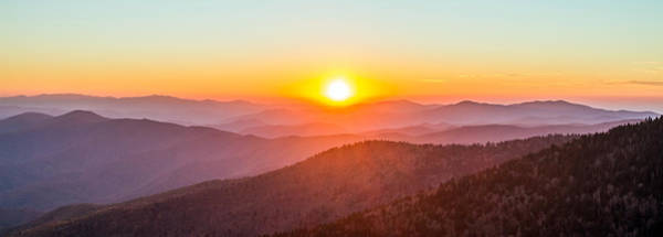Photograph - Fantastic Sunset In The Great Smoky Mountains by Pierre Leclerc Photography