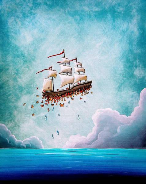 Clipper Wall Art - Painting - Fantastic Voyage by Cindy Thornton