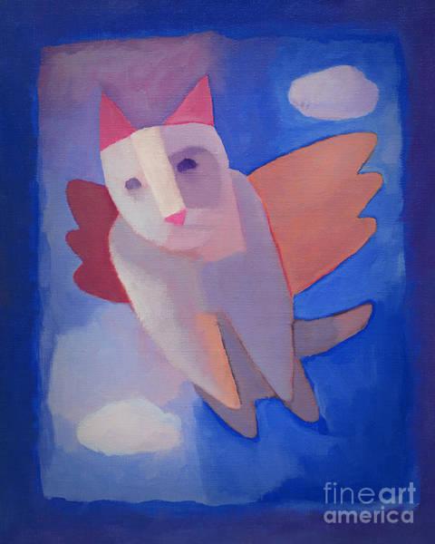 Painting - Fantasy Cat by Lutz Baar