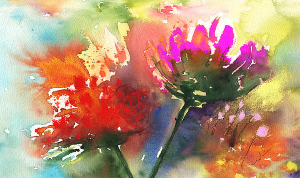 Painting - Fantasy Flowers by Miki De Goodaboom