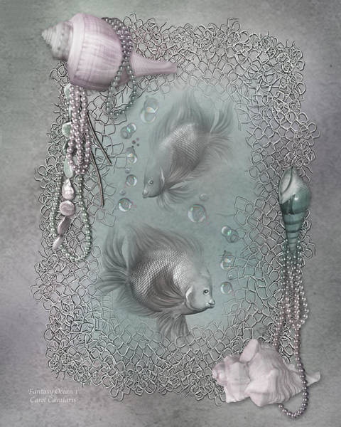 Mixed Media - Fantasy Ocean 1 by Carol Cavalaris