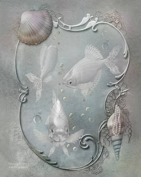 Mixed Media - Fantasy Ocean 2 by Carol Cavalaris