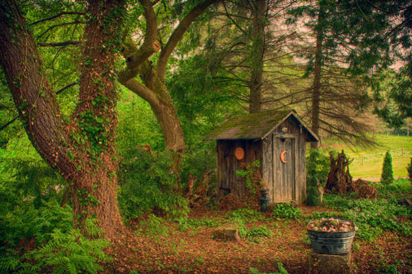 Photograph - Fantasy Outhouse by Guy Whiteley