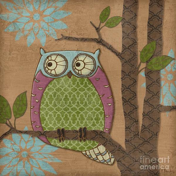 Owl Wall Art - Painting - Fantasy Owl Iv by Paul Brent