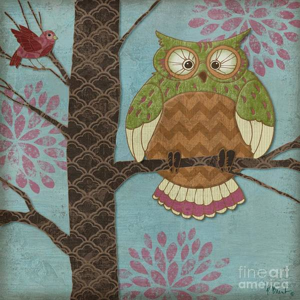 Owl Wall Art - Painting - Fantasy Owls I by Paul Brent
