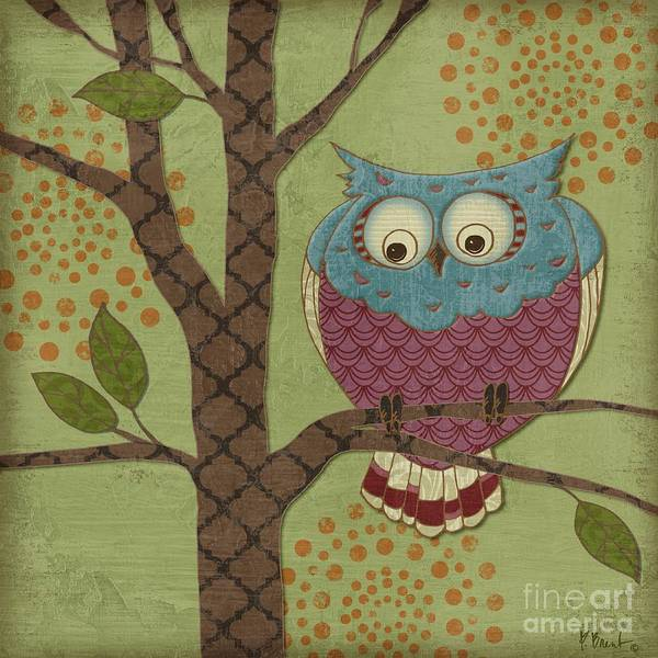 Owl Wall Art - Painting - Fantasy Owls IIi by Paul Brent