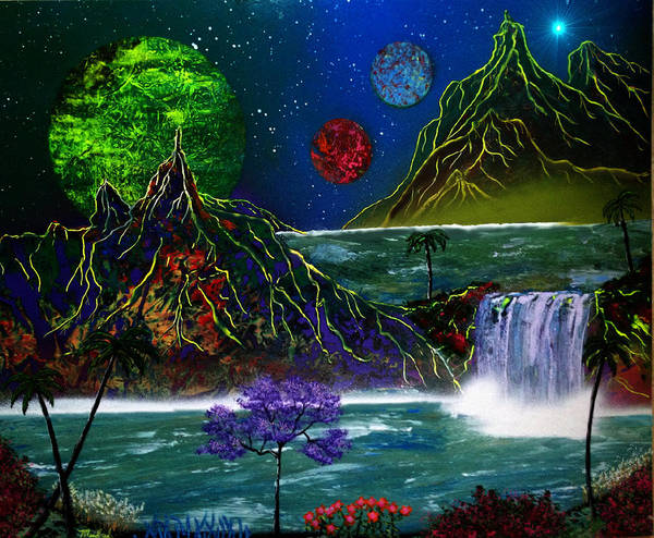 Painting - Fantasy Planets by Michael Rucker