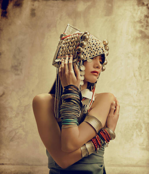 Indigenous People Photograph - Fantasy Tribal Princess by Colin Anderson