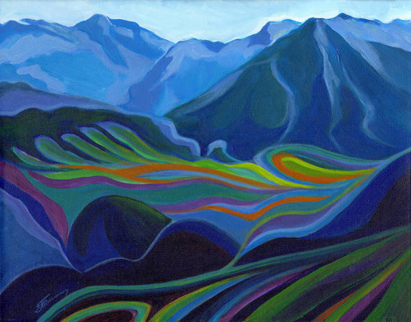 Painting - Faraway Mountains by Tanya Filichkin