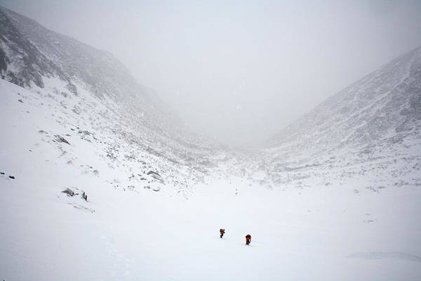 New Years Day Photograph - Far Away View Of Two Men Hiking On Mt by Jose Azel