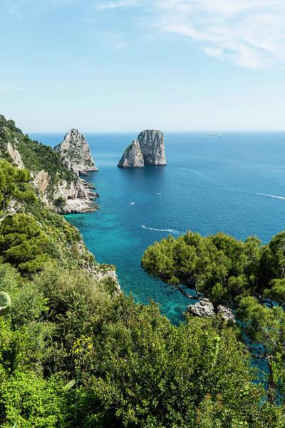 Capri Photograph - Faraglioni Rocks, Capri, Campania, Italy by Arnt Haug / Look-foto