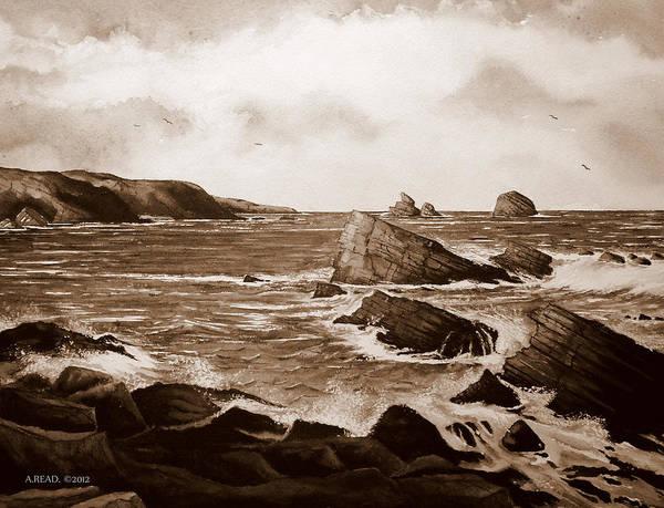 Wall Art - Painting - Faraid Head Durness Scotland by Andrew Read