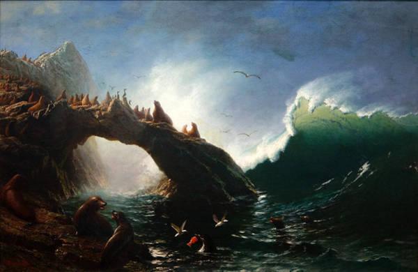 Farallon Islands Painting - Farallon Island by Albert Bierstadt