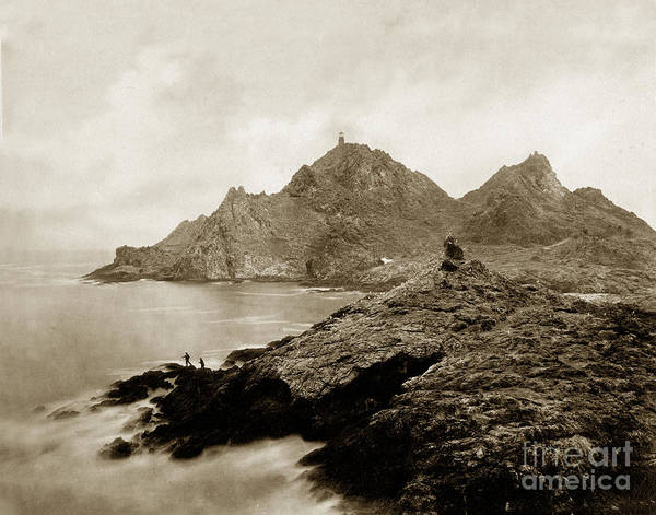Photograph - Farallon Island Lighthouse California Pacific Ocean 1880 by California Views Archives Mr Pat Hathaway Archives