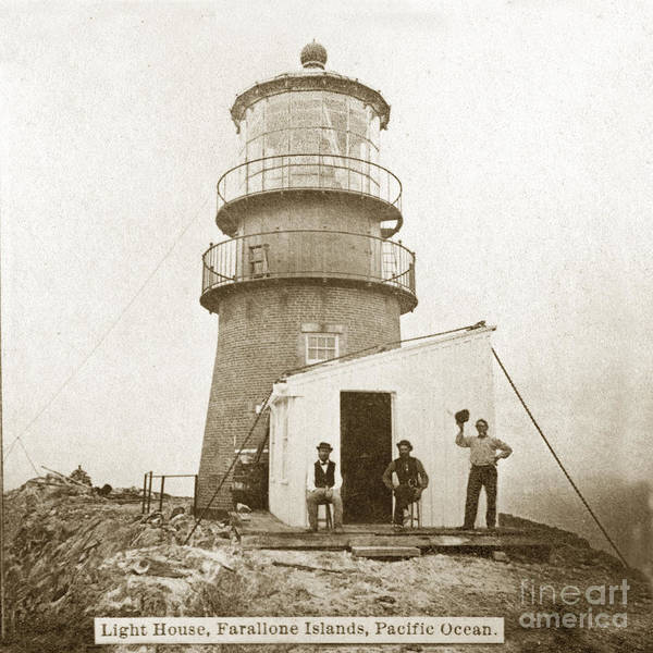 Photograph - Farallon Island Lighthouse Pacific Ocean Circa 1880 by California Views Archives Mr Pat Hathaway Archives