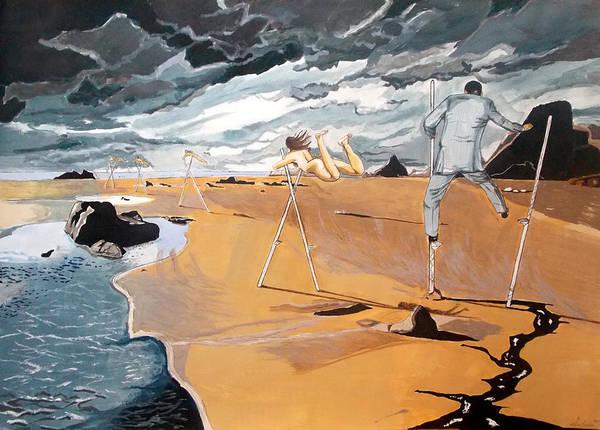Wall Art - Painting - Faraway Lejanias by Lazaro Hurtado