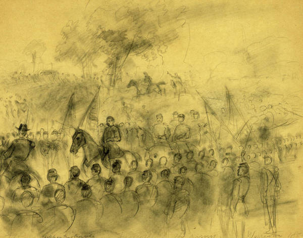 Warrenton Wall Art - Drawing - Farewell To The Army. Warrenton, 1862, 1862 November 10 by Quint Lox