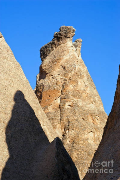Chimnies Photograph - Fariy Chimney With Shadow by Bob Phillips