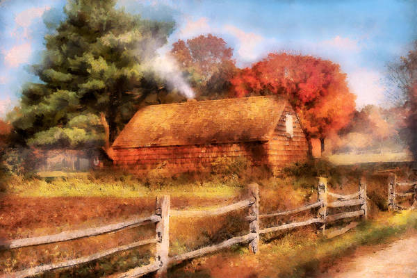 Broken Sky Digital Art - Farm - Barn - Our Cabin by Mike Savad