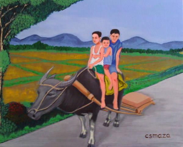 Painting - Farm Boys by Cyril Maza
