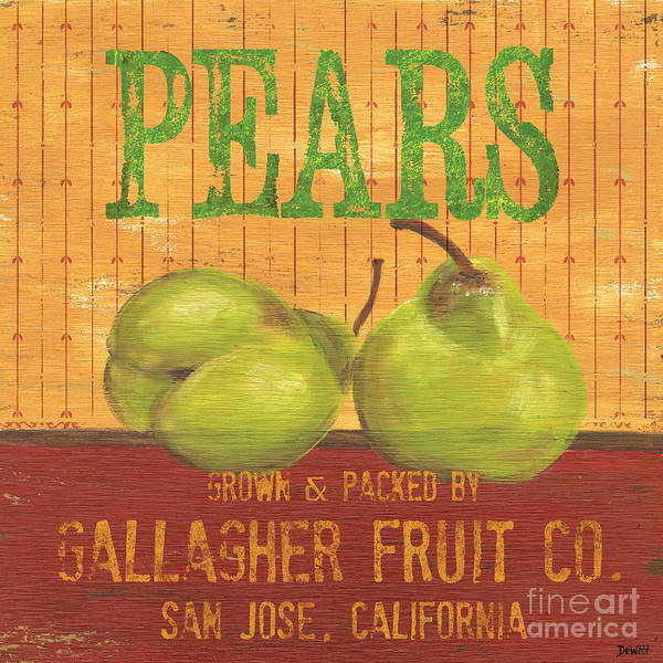 Pear Painting - Farm Fresh Fruit 1 by Debbie DeWitt