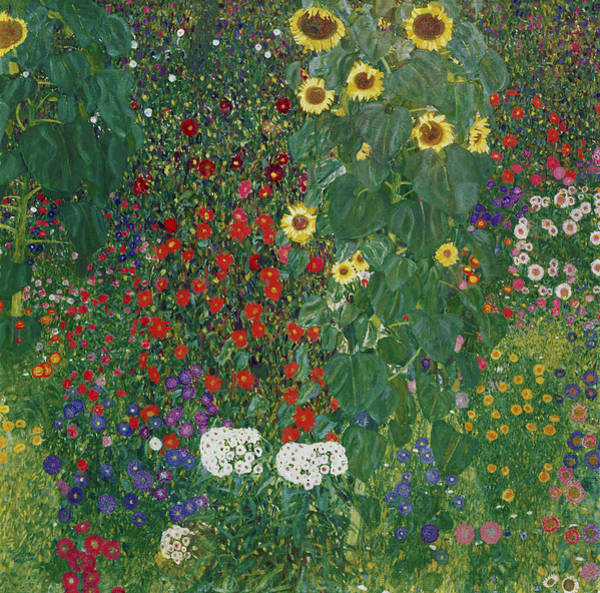 Painting - Farm Garden With Flowers by Celestial Images