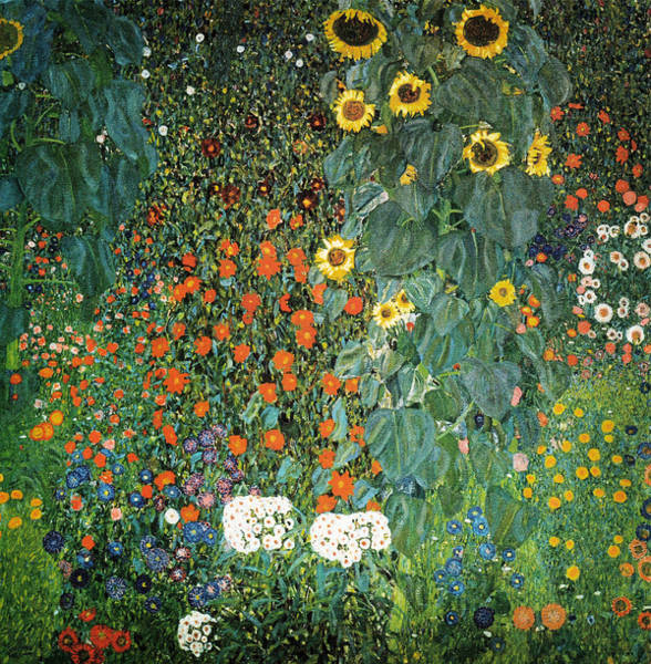 Painting - Farm Garden With Sunflowers by Celestial Images