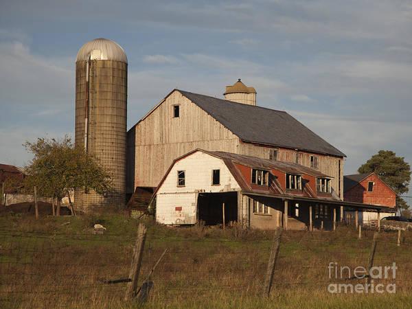 Farm House At Sundown Art Print