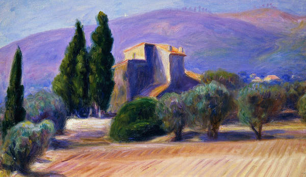 Farmstead Painting - Farm House In Provence by William James Glackens