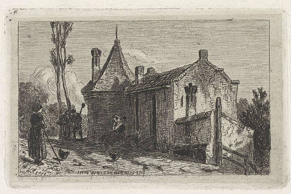 1880 Drawing - Farm In Culemborg, The Netherlands, Jan Weissenbruch by Artokoloro