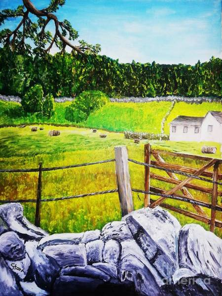 Grasmere Wall Art - Painting - Farm In Grasmere England by Irving Starr