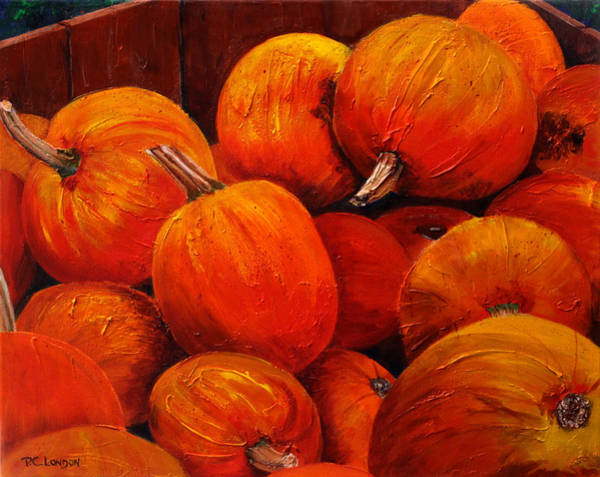 Painting - Farm Market Pumpkins by Phyllis London