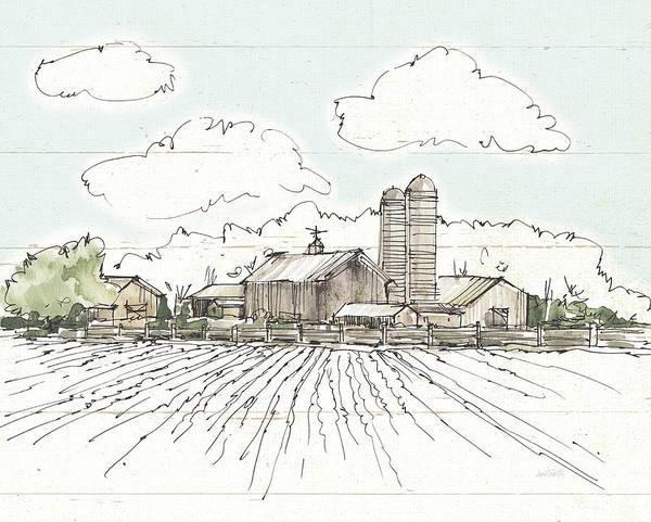 Silo Painting - Farm Memories I Shiplap by Anne Tavoletti