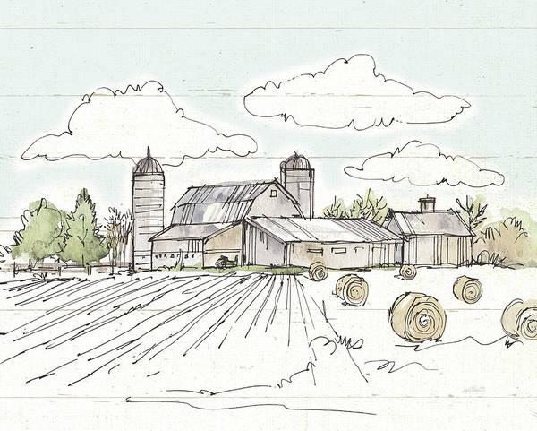 Silo Painting - Farm Memories II Shiplap by Anne Tavoletti