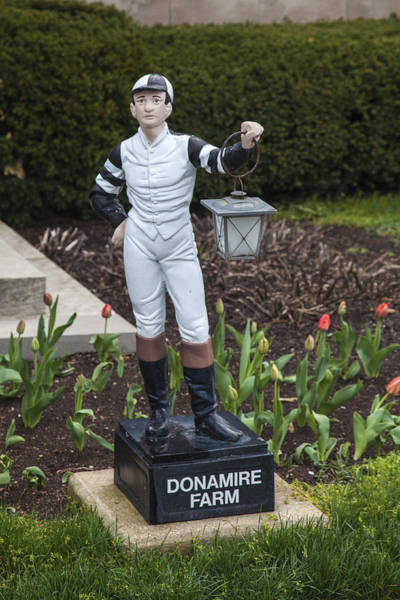 Photograph - Farm Office Jocky Statue  by Jack R Perry