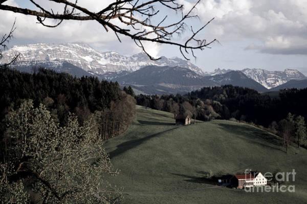 Photograph - Farm Scene In Switzerland 2 by Susanne Van Hulst