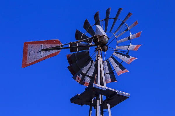 Wall Art - Photograph - Farm Windmill by Garry Gay