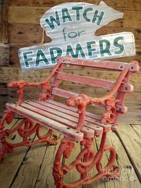 Farmer Bench Art Print
