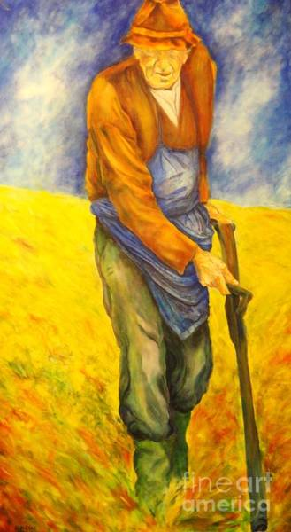 Painting - Farmer by Dagmar Helbig