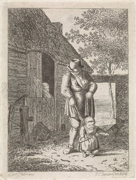 Water Pump Drawing - Farmer, Johannes Christiaan Janson by Johannes Christiaan Janson
