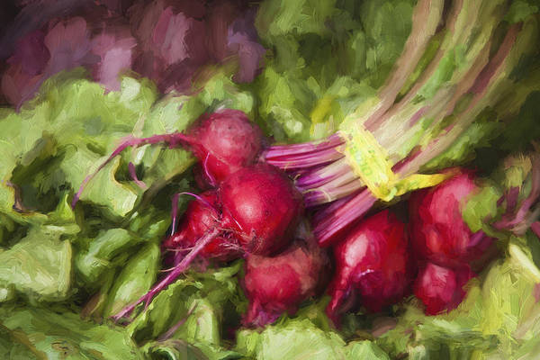 Beet Wall Art - Digital Art - Farmers Market Beets by Carol Leigh