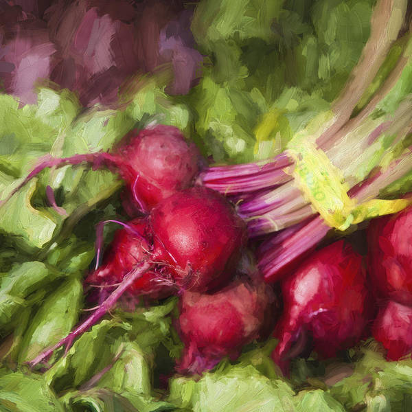 Beet Wall Art - Digital Art - Farmers Market Beets Square Format by Carol Leigh