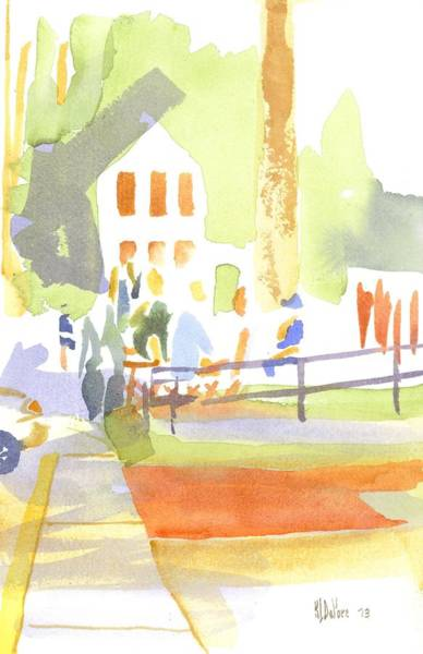Courthouse Painting - Farmers Market II  by Kip DeVore